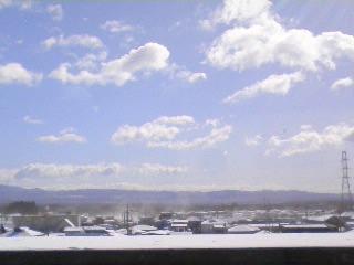 ■2010/2/7(日) 雪が舞い上がる / 10:10am